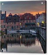 Bruges Canal Dawn Acrylic Print