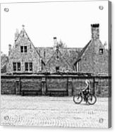 Bruges Cyclist Acrylic Print