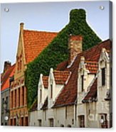Bruges Rooftops Acrylic Print by Carol Groenen