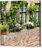 Brugge Balcony Acrylic Print by Carol Groenen
