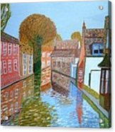 Brugge Canal Acrylic Print