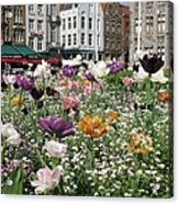 Brugge In Spring Acrylic Print