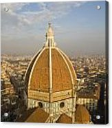 Brunelleschi's Dome At The Basilica Di Santa Maria Del Fiore Acrylic Print