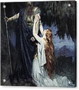 Brunhilde Knelt At His Feet, From The Acrylic Print