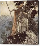 Brunnhilde From The Rhinegold And The Valkyrie Acrylic Print by Arthur Rackham