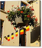 Brussels Belgium - Flowers Flags Football Acrylic Print