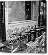 Brussels Cafe In Black And White Acrylic Print