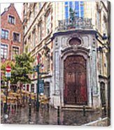 Brussels Cafe Acrylic Print