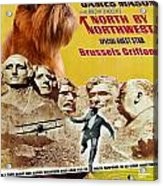 Brussels Griffon Art - North By Northwest Movie Poster Acrylic Print