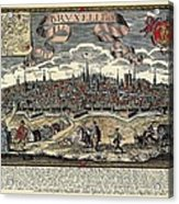 Brussels In 17th C. Engraving. � Acrylic Print