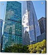 Bryant Park And Architecture Acrylic Print by Dawn Williams