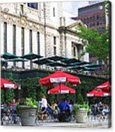 Bryant Park At Noon Acrylic Print by Dora Sofia Caputo Photographic Art and Design