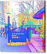Bryant Park Acrylic Print by Dan Hilsenrath