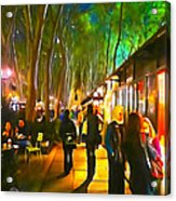 Bryant Park Evening Acrylic Print by Richard Trahan