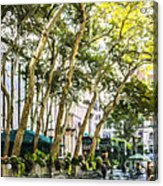 Bryant Park Midtown New York Usa Acrylic Print