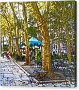 Bryant Park October Acrylic Print by Liz Leyden