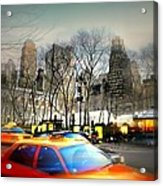 Bryant Park Taxi Acrylic Print by Diana Angstadt