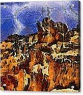 Bryce Canyon Thuderstorm Acrylic Print