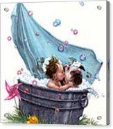 Bubble Bath Acrylic Print by Isabella Kung
