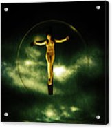 Bubble Crucifix Acrylic Print