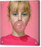 Bubble Gum Pink Acrylic Print