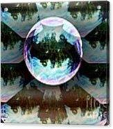 Bubble Illusion Catus 1 No 1 Acrylic Print