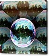 Bubble Illusion Catus 1 No 2 H Acrylic Print