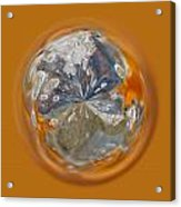 Bubble Out Of Orange Orb Acrylic Print
