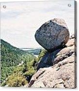 Bubble Rock Acadia National Park Maine Acrylic Print
