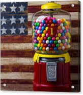 Bubblegum Machine And American Flag Acrylic Print