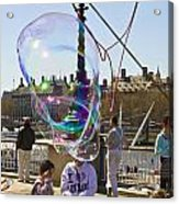 Bubbles Big Ben Acrylic Print
