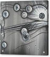 Bubbles In Grey Acrylic Print