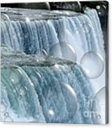 Bubbles Over Niagara Falls Acrylic Print