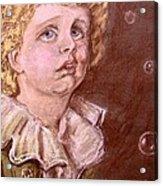 Bubbles Pastel Portrait Acrylic Print
