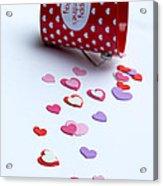 Bucket Of Hearts Acrylic Print