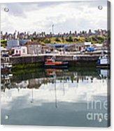 Buckie Harbour Acrylic Print