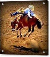 Bucking Broncos Rodeo Time Acrylic Print