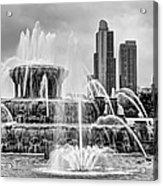 Buckingham Fountain - 1 Bw Acrylic Print