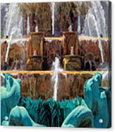Buckingham Fountain Closeup Acrylic Print