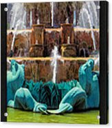 Buckingham Fountain Closeup Poster Acrylic Print
