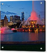 Buckingham Fountain Light Show Acrylic Print