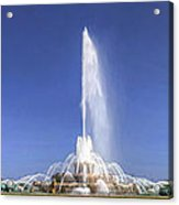 Buckingham Fountain Panorama Acrylic Print