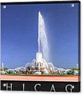 Buckingham Fountain Panorama Poster Acrylic Print