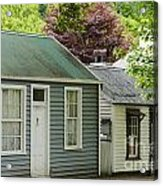 Buckingham Street Cottages Acrylic Print