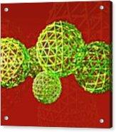Buckyball Molecules Acrylic Print