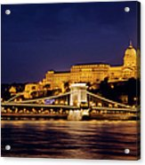 Buda Castle And Chain Bridge Acrylic Print