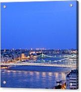 Budapest At Dusk Acrylic Print