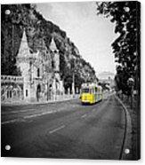 Budapest Bw Acrylic Print
