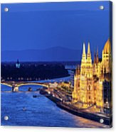 Budapest By Night Acrylic Print