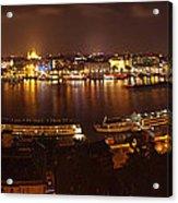 Budapest Night Panorama  Acrylic Print